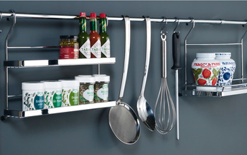 Cook book holder, Steel railing system