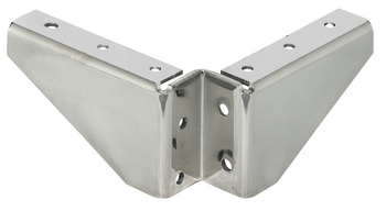Corner brace, without lateral screw fixing holes, table fittings