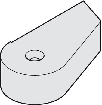 Cover cap, For rails on rebated doors, Geze