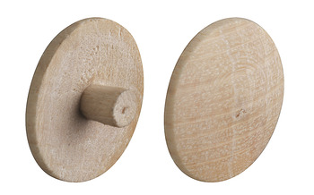 Cover cap, Real wood untreated, for PZ cross slot or TS T-star drive