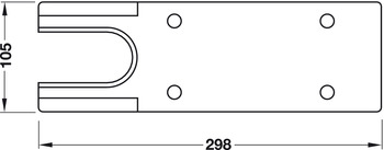 Cover plate, for TS 500 N and TS 500 NV, Geze
