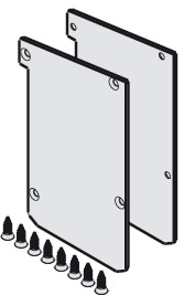 Covers, On front edge, for wall mounted systems