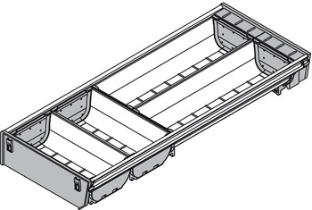 Compartment system, Blum Orga-Line, Tandembox, special version, system height M, drawer side height 83 mm
