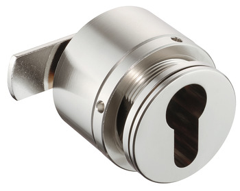 Cylinder cam lock for glass doors, PZ 60