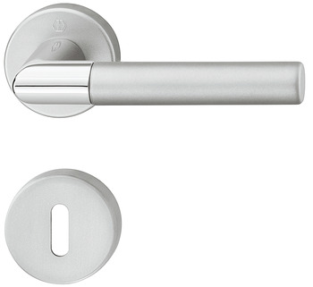 Door handle set, Aluminium, Hoppe, Lecce 1405/42KV/42KVS