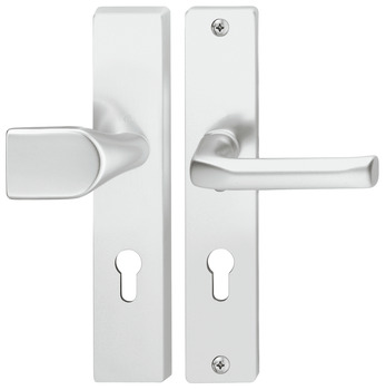 Door handle set , aluminium, Hoppe, London 54/2221A/2440/113 ES0