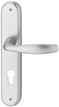 Door handle set , aluminium, Hoppe, New York 1810/273P