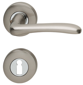 Door handle set, brass, Jado, New Castel 423/391
