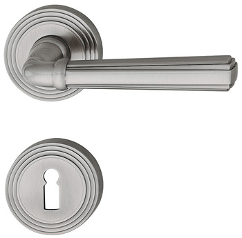 Door handle set, brass, Jatec, Escalier R 900/993
