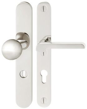 Door handle set, Stainless steel, Bisschop, Bauhaus Dessau 8412KZS/6841/1926 (CC) impact resistance category 2 (protection class 3)