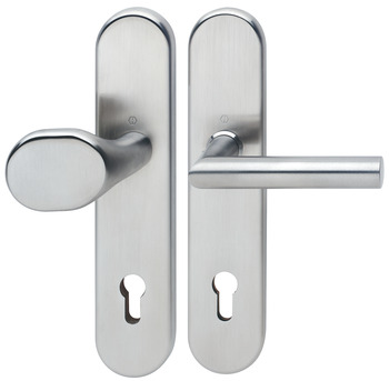 Door handle set , stainless steel, Hoppe, Amsterdam E86G/3310/1400Z ES1 (forced entry resistance)