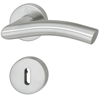 Door handle set , stainless steel, Hoppe, Antwerpen E1420Z/42KV/42KVS