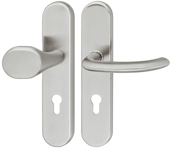 Door handle set , stainless steel, Hoppe, Marseille E86G/3331/3310/1138Z ES1 (forced entry resistance)