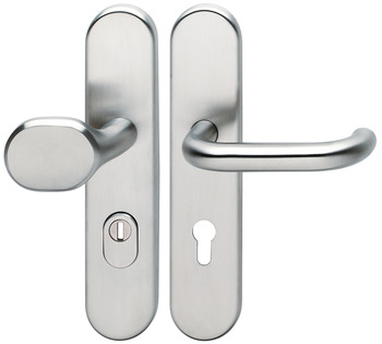 Door handle set , stainless steel, Hoppe, Paris E86G/3332/3310/138Z ES1 (forced entry resistance)