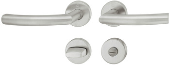 Door handle set , stainless steel, Hoppe, Trondheim E1430Z/42KV/42KVS