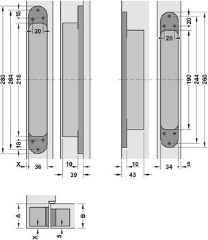 Door Hinge Simonswerk Tectus Te 645 3d For Flush Doors Up