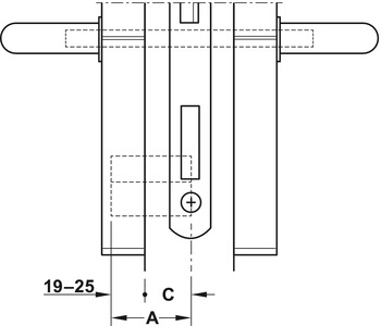 Door terminal set, DT 210, Dialock, without thumbturn, Tag-it<sup>TM</sup> ISO