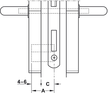 Door terminal set, DT 210 FH, Dialock for fire resistant/smoke control doors, with thumbturn, Tag-it<sup>TM</sup> ISO