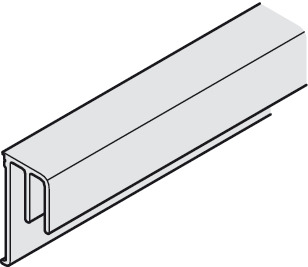 Double guide track, Bottom, for screw fixing