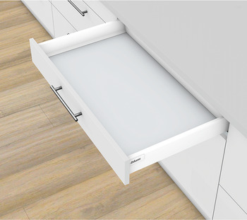 Drawer set, Blum Tandembox antaro, with Tip-On Blumotion cabinet rail, system height M, drawer side height 83 mm