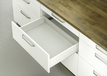 Drawer set, Häfele Matrix Box P35, drawer side height 115 mm, load bearing capacity 35 kg