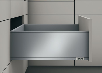 Drawer set, Legrabox pure, drawer side height 177 mm, system height C, with Blumotion S cabinet rail, load bearing capacity: 70 kg