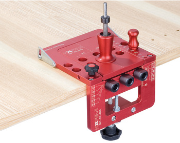 Drilling jig set, Red Jig Minifix<sup>®</sup> 15
