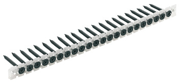 Drywall screws, PH cross slot, size 2, collated in strips, twin