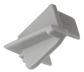 End cap, For profile for recess mounting, 11 mm, angled
