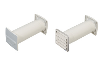 Energy control wall vent set, Flat ducting and round pipe system 125, outlet or inlet air