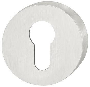 Escutcheon, stainless steel, Satin ground