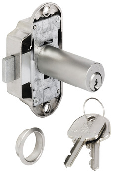 Espagnolette lock, with extended pin tumbler cylinder, standard profile, backset 25 mm