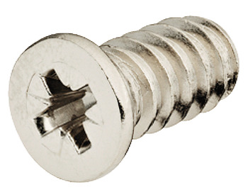 Euro screw, Varianta, Cylindrical head, PZ, steel, Fully threaded, For drill holes Ø 5 mm
