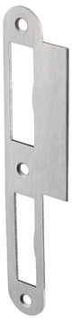Flanged striking plate, for flush doors, 170 mm, curved