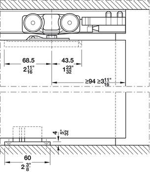 Floor guide, Adjustable