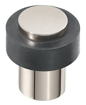 Floor mounted door stop, stainless steel, for screw fixing, Startec