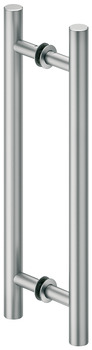 Flush pull handle for sliding doors, Aluminium, two-sided, round