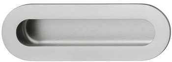 Flush pull handle, stainless steel, oval