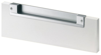Flush pull handle, Zinc alloy, for seemingly handle-less fronts