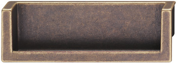 Flush pull handle, zinc alloy, rectangular