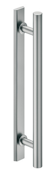 Flush Pull handles for Sliding Doors, Aluminium, one-sided, round
