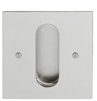 Flush pull handles for sliding doors, flush pull handles, 110x110 mm