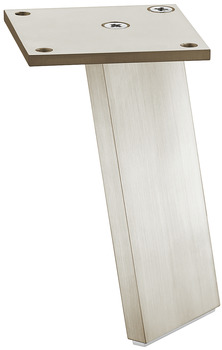 Furniture foot, Without height adjustment, aluminium