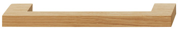 Furniture handle, D handle, natural wood, square