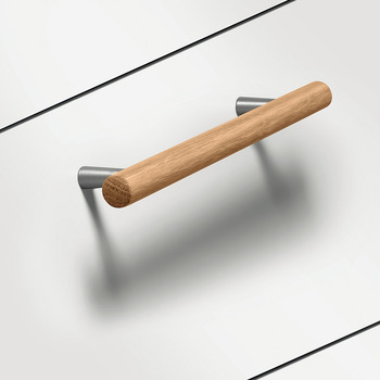 Furniture handle, Handle with base, wood