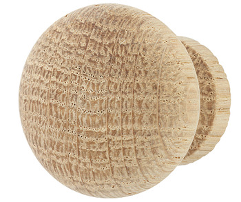 Furniture knob, natural wood, round