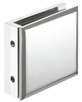 Glass clamp, For wall-glass connection, concealed wall mounting