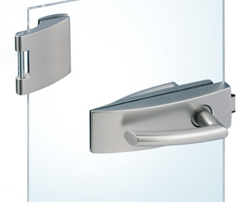 Glass door fitting set, Arcos Studio, Dorma Glas, with 3-piece hinges