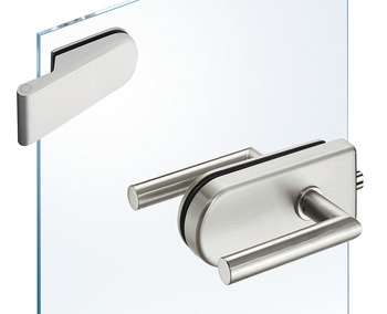 Glass door fitting set, GHR 112, Startec, with 2-piece hinges