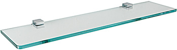 Glass shelf, chrome plated polished, square series